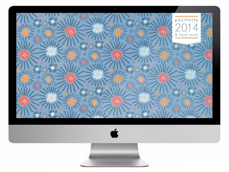 Free Patterned 2014 Wallpaper Download pattern surface design typography flowers free freebie floral burst bold color wallpaper desktop