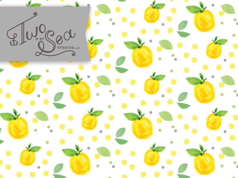 When Life Give You Lemons –Paint! pattern repeat lemons fruit tropical seamless surface design surface pattern textile fabric illustration watercolor