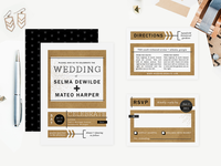 Urban Arrows Wedding Invitations