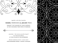 Wedding Invitation Modern Fairytale