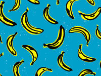 Banana Scatter Pattern