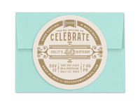 40th Birthday Invitation Coasters