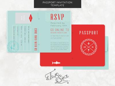 Wedding Passport Invitation Template by Brittany ZellerHolland