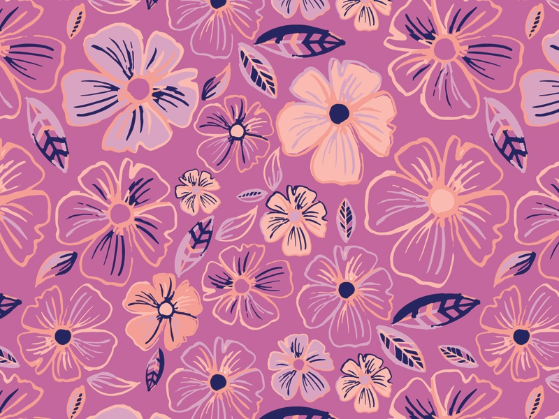 Vera Floral Pattern flowers tropical swim floral pattern print textiles fabric leaves repeat seamless