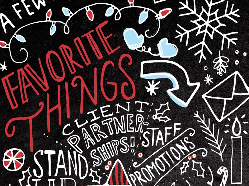 Corporate Holiday Card sketchbook sketch invitation card doodles corporate holiday hand-lettering