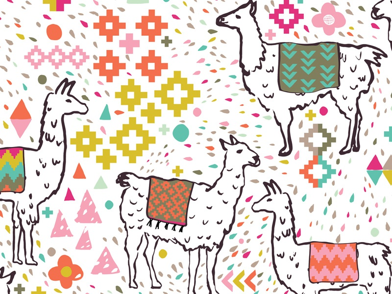 Llama Fabric Pattern spoonflower baby kids geometric surface gift wrap wallpaper peru llamas llama pattern fabric