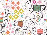 Llama Fabric Pattern