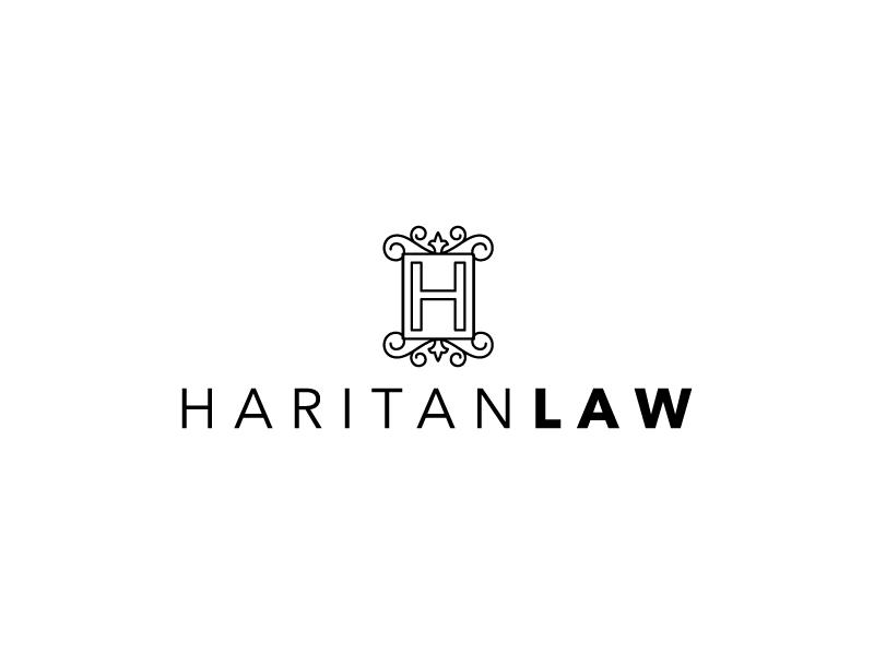 Discarded Logo Concept for a Law Firm attorney feminine frame branding lawyer modern law legal logo