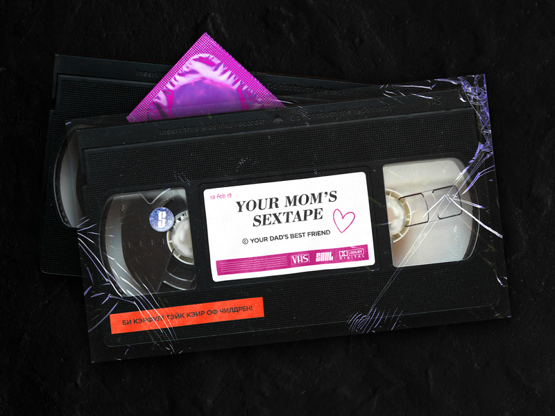 Your mom's sextape dolby tape vhs kiev kyiv illustration design poster art