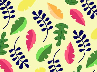 Pattern kids textile print kids pattern kids illustration leaves automn