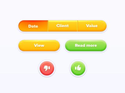 Fun Button Set game action button thumbs up like set buttons app design button fun