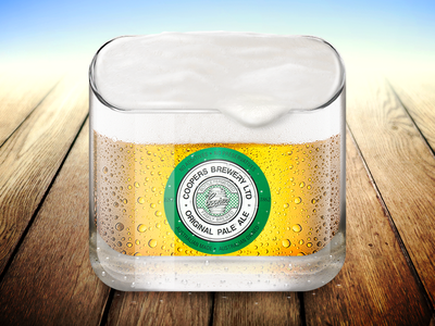Beer App Icon pale ale coopers photoshop ios iphone design icon app beer