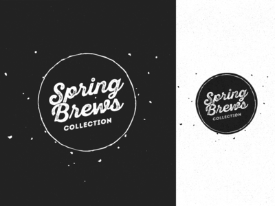Spring Brews collection brewart logo branding