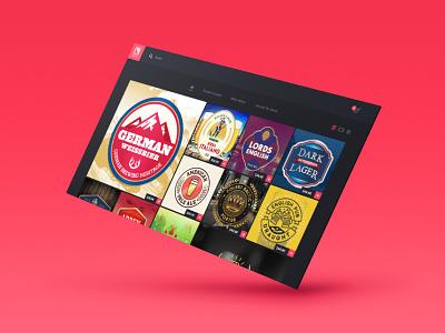 BrewArt - Beer Labels design concept web ui ux enabled labels beer brewart coopers