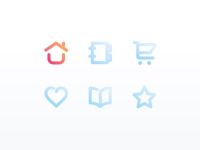 Tab Bar icons design ui ux icons tab bars