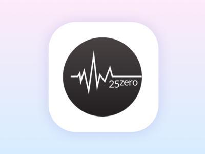 25 Zero App Icon app icon creative direction art direction design