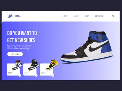 Nike web UI design jorden nike shoes shoes design design ux design ui design ui art adobe xd 2021