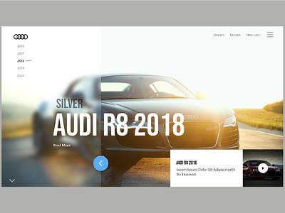 AUDI UI DESIGN sport car sports sports design audi spots car ux design ux ui design ui art design 2021