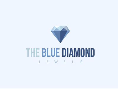 The Blue Diamond Logo design in illustrator illustrator digital illustration illustration art logo icon adobe illustrator blue diemond the blue diamond jewels blue and white diamond diamond logo blue designs illustration ui design art ui design 2021