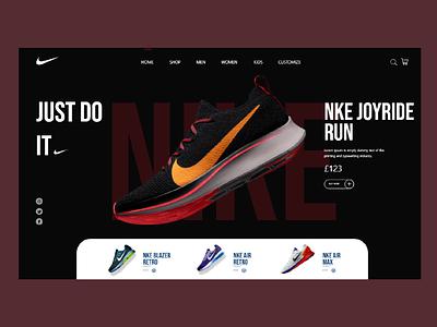 Nike just do it design joyride nike ui shop nike design nike running nike shoes nike shoes logo ux design adobe xd ux ui design art ui design 2021