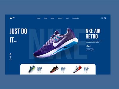 Nike just do it ui design retro shoe design nike ui nike running nike shoes nike air nike shop shoes logo ux design adobe xd ux ui design art ui design 2021