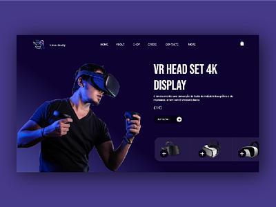 VR Web UI design face fantasy fashion sell blue vr design verchiel ecommerce design ecommerce head set verchiel reality vr ux design adobe xd ux ui design art ui design 2021