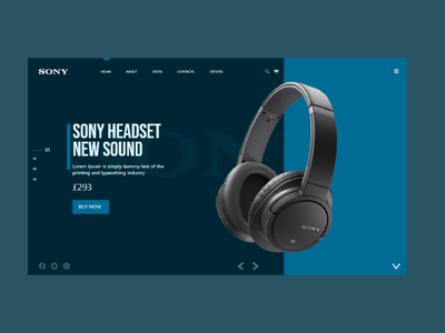 SONY HEADSET Awesome UI ecommerce design ecommerce new sound home sony playstation green blue headset headphone sony ui sony designs branding illustration adobe xd ux ui design art design 2021