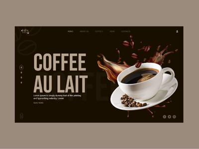 coffee ui design ui au lait brown red flat coffee ui coffee cafeteria restaurant food ecommerce adobe xd designs adobe xd design logo ux design ui design art design 2021