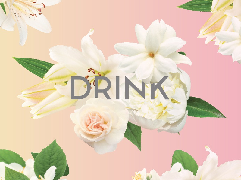 Floral Cup Wrap Design No. 1 drink flowers cup