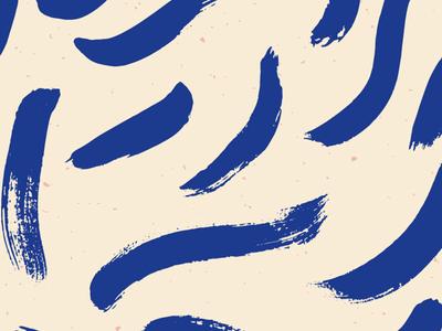 Patterned No 2 | brushstroke blues