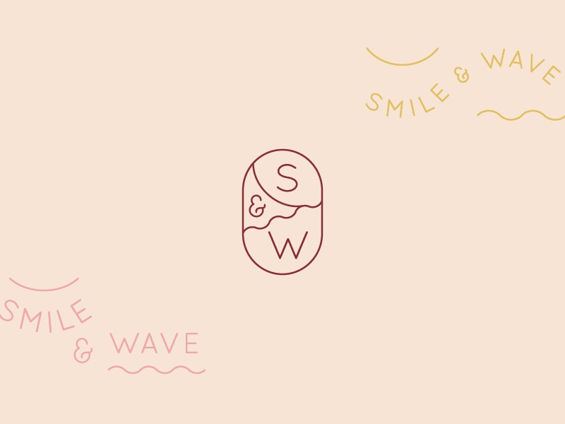 Smile And Wave logo direction branding icon logo