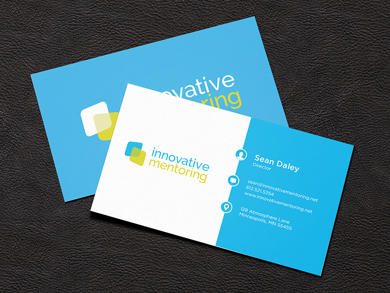 Innovative Mentoring Business Card by Kyle J Larson - Dribbble