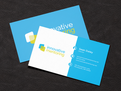innovative mentoring business card by kyle j larson dribbble