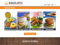Burger Artist homepage