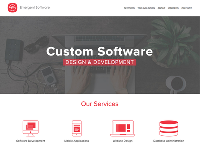 Emergent Software Homepage website software home page homepage