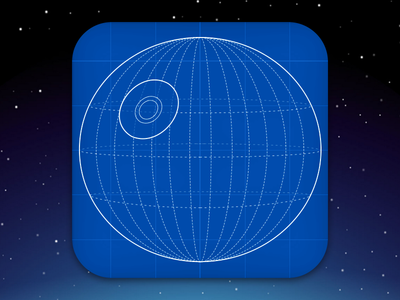 Death Star Plans Icon - DailyUI #005 blueprints app icon app icon death star star wars dailyui