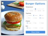 Burger Settings - DailyUI #007