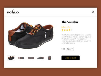 Shoe Shopping - DailyUI #012 product product page rating stars dailyui cart shopping shoes
