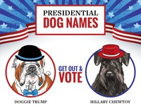 Presidential Dog Names Infographic