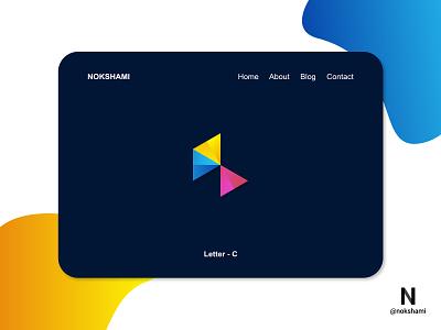 Letter C modern logo nokshami logotype whorahat lettermarklogo logoinspiration logoideas logofolio logodesign logo2021 branding design