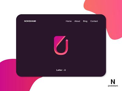 Letter U logotype logoinspiration whorahat nokshami logoideas logofolio logodesign logo2021 lettermarklogo modern logo branding design