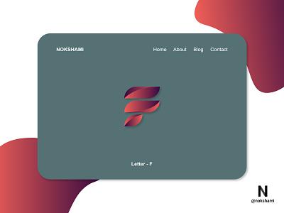 Letter F modern logo whorahat nokshami logotype logoinspiration logoideas logofolio logodesign logo2021 branding design
