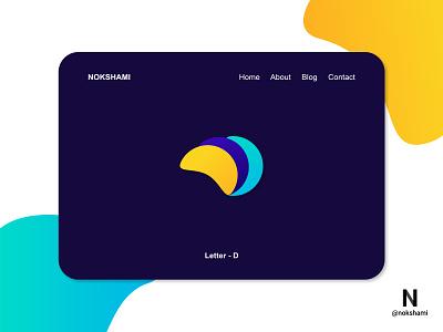 Letter D modern logo whorahat nokshami logotype logoinspiration logoideas logofolio logodesign logo2021 branding design