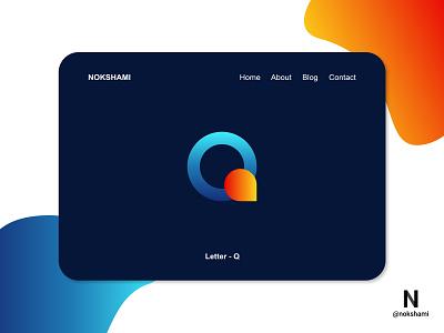 Letter Q modern logo whorahat nokshami logotype logoinspiration logoideas logofolio logodesign logo2021 branding design