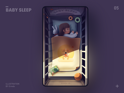 Baby sleep vector sleep baby illustration ps