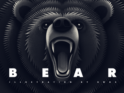 Bear animal illustration ps