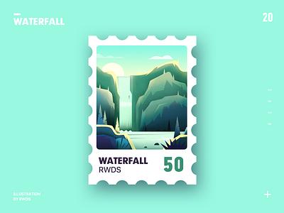 Waterfall illustration ps