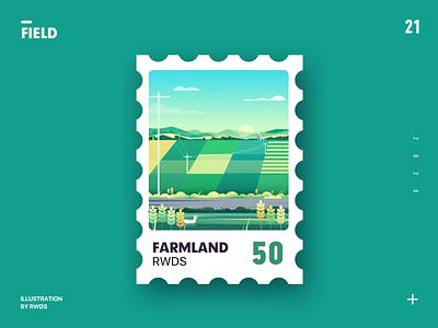 Farm illustration sky duck fild farm