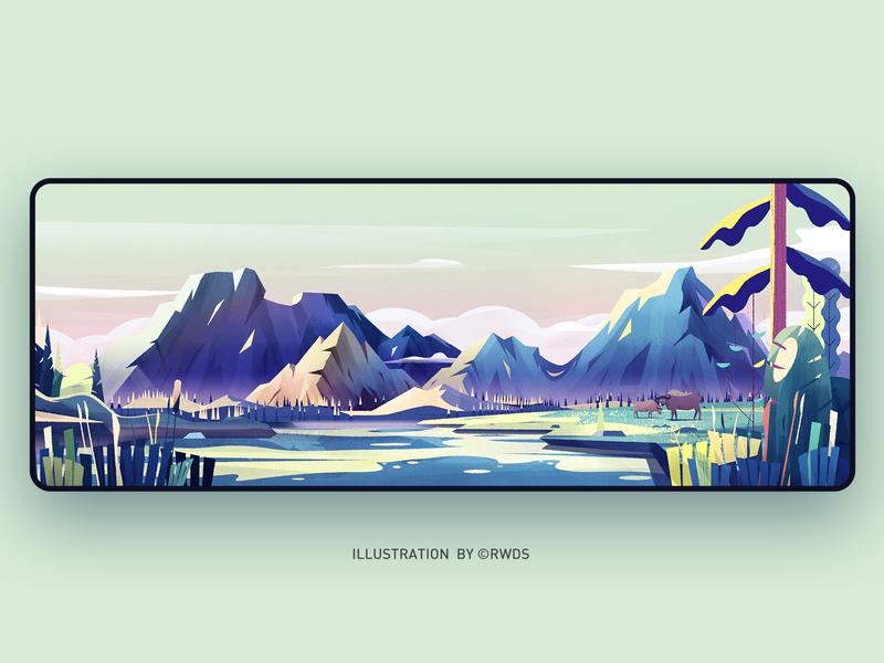 Mountain illustration ps