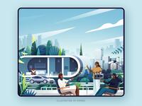 Building city vector design branding ps illustration building